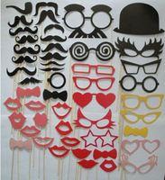 фото оптовых-Партия свадебная фотография фото стенд опора модные усы глаза очки губы на палку Маска