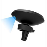 cargador para coche inalámbrico qi al por mayor-Cargador inalámbrico del soporte del coche de la rotación 360 para el cargador favorable del macbook para el cargador inalámbrico del coche del cargador del qi del teléfono móvil