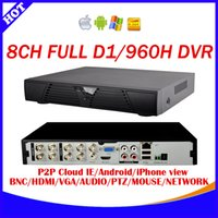Wholesale Dvr 8ch Real Time - 8 Channel H.264 240fps real time full D1 and 960H CCTV Standalone DVR Cloud network HDMI 1080P 8CH DVR recorder+Free shipping