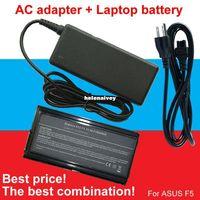 Wholesale Asus F5gl Battery - Lowest price 1pcs Adapter+1pcs battery For Asus 90-NLF1B2000Y A32-F5 F5 F5C F5GL F5M F5N F5R F5SL F5Sr F5V F5Z X50 X50C X50M X50N X50R X50V