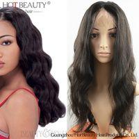 Wholesale Hand Tied Virgin Hair - Lace front human hair wig Peruvian Brazilian Indian Malaysian Virgin Hair Body Wave Glueless Human Hair Wigs For Black Women 130% Density