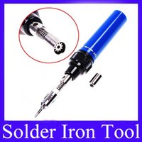 Wholesale Gas Solder Iron - Soldering Irons Gas Soldering Torch Pen Solder Iron Tool HT-1937 MOQ=1 free shipping