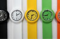 Wholesale Slap Sport Watches - 50pcs New style children's small slap watch kids sport quartz girl & boy watch jelly novel watches
