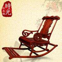 antiquitäten holzstühle großhandel-Kleine YE Tan Mahagoni-Möbel, chinesische antike Schaukelstuhl Holzstuhl faul Lounge Chair alten Stuhl Stuhl Schaukelstuhl Happy