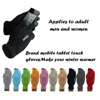 Wholesale Touch Screen Glove Cotton - Unisex Iglove Capactive Touch Screen Gloves Winter Finger Gloves for Iphone x 7 8 Smart Phones Ipad for Christmas Gifts Multicolor Choice