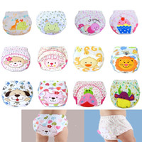 Wholesale Diapers Tpu - New Cartoon 3 Layers Baby Nappies TPU Washable Cloth Diaper Retail Training Pants Underpant