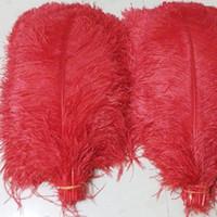 rote straußenfedern großhandel-Rote Strauß-Feder-große Strauß-Feder-Hochzeits-Dekorations-Mittelstück-Strauß-Feder-Feder-Hochzeitsfest-Dekorations-Mittelstück