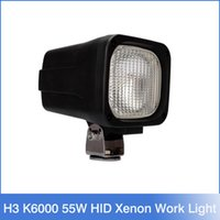 Wholesale Hid Xenon Lighting 55w - H3 K6000 55W HID xenon Work Light Driving Light Offroad Lamp wide Flood Beam water proof H2668