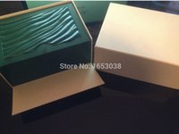Wholesale Wholesale Wooden Watch Boxes - 12pcs Free Shipping Mens For Watch Box Original Wooden Inner Outer Woman's Men Watches Boxes Card