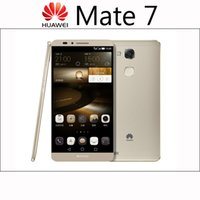 Wholesale Huawei Mate Cell Phone - Original Huawei Ascend Mate 7 4G LTE Smartphone 6.0 inch 3G RAM 32G ROM Octa Core 13.0MP Unloked Cell Phones