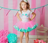 pettiskirt elbiseler yılbaşı toptan satış-Noel Kız elbise Kız TUTU etek Bebek Giysileri Pettiskirt Bebek giyim Çocuklar TuTu Çiçek Kız Elbise Prenses elbise KLX 004 2016