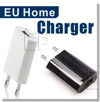 Wholesale Iphone Usb Wall Charger Black - Full 1A Eu Plug USB Power Home Wall Charger Adapter for iPod for iPhone 6, iPhone 6 Plus (+), iPod, iPhone 5S, 5C, 5, 4 & 4S (White & Black)
