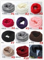 Wholesale Infinity Scarf Knitting - 2015 Newest Fashion Women Winter Warm Infinity Knit Cowl Neck Long scarf Shawl infinity Scarf DHL free shipping 20PCS LB14