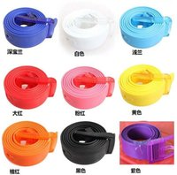 Wholesale Rubber Waistband - Multi belts Silicone Belt Hottest now Candy Colors Waistband Belt Silicone rubber have fragrance 2016 Hot Sale