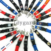 Wholesale HOT New Football Lanyard for MP3 cell phone keychain ID holders for collection Mix order