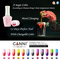 Wholesale 12 Sale Nail Polishes - 12pcs*15ml Hot Sale CANNI 12 Fashion Magic Color Nail Temperature Changeable Soak off UV LED Chameleon Thermal Color Gel Polish
