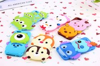 Wholesale Iphone 3d Alien Cases - NEW 86HERO 3D Cute Sulley Winnie Piglet Aliens TSUM Soft Silicone Rubber Full Back Case For iPhone 5   5S   6 4.7   Plus 5.5 inch iPhone6