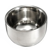 Wholesale Mens Mugs - New Arrival 7.2cm Durable Smooth Double Layer Stainless Steel Mens Shaving Mug Bowl Cup order<$18no track