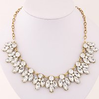 Wholesale Exaggerate Resin Necklace - 2017 Fashion Korean Exaggerated Vintage Shining Necklace Fashion Jewelry Colar Necklace Women Accessories