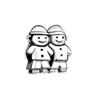 Wholesale Big Sister Silver Charm - Sweet family bother sister girls Eueopean bead metal charm ladies bracelet with big hole Pandora Chamilia Compatible