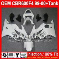 Wholesale Dragon Mold - ALL White +Tank For HONDA Injection CBR 600F4 CBR600F4 99-00 NEW white dragon 7#1 CBR600 F4 FS CBR 600 F4 600F4 99 00 1999 2000 Fairing