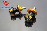 Wholesale Kawasaki Er6 - Motorcycle CNC 10mm stands Swingarm Spool Slider Bobbin For Kawasaki Ninja ZX ZRX ZZR ER6 636 Z750 6R 10R 12R 14R Black+gold M53919