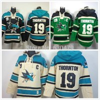 Wholesale Cheap Hooded - Factory Outlet, Cheap Men's San Jose Sharks Cheap Ice Hockey Hoody 19 Joe Thornton Ice Hockey Hoodies  Hooded Sweatshirt