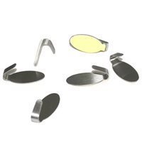 Atacado- 2016 Hot 6pcs Kitchen Wall Door Self Adhesive Stainless Steel Stick Holder Hook Hanger New