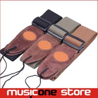 Wholesale Fd Free - 5pcs Colorful Genuine Leather Ends FD Adjustable Acoustic Guitar Strap Bass Free shipping MU0499