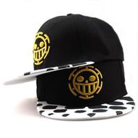 Wholesale One Piece Trafalgar - Free Shipping Fashion One Piece Baseball Cap Hat Trafalgar Law Caps For Women Men Snapback Caps Flat Hat