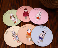 Wholesale Lapin Cute - Hot sales cute fifi lapin hand make-up Mirror portable pocket cosmetic mirror Fashion wedding in return 10pcs lot