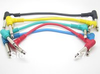 Wholesale Guitar Audio Cable - Wholesale-Guitar Cables with 6.35mm Right Angle Plug Connect Effect Pedal Guitar audio HiFi cable male to male cable