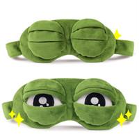 olhos dos desenhos animados para o traje venda por atacado-Sad Frog 3D Máscara de Dormir Anime Dos Desenhos Animados de Pelúcia Máscaras de Olho Engraçado Trajes Cosplay Acessórios Presente Da Novidade Moda Dormir Máscara de Olho Cuidados Com Os Olhos