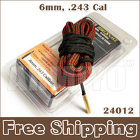 Wholesale Bore Snake 243 - Armiyo Hot Sale New Hoppe's 9 Boresnake Fastest Bore Snake Cleaning 6mm .243 Cal 24012 Hunting Shooting Accessories Cleaner