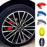 Wholesale Nissan Stocks - EU Stock 2pcs Set ABS Car Brake Caliper Front Rear Brake Caliper Cover Case Wheel Hub Decoration Accessories 5 Colors