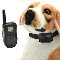 Wholesale Wireless Remote Vibrating - US EU Waterproof Shock Vibrate LCD Remote Rechargeable Dog Training Collar T0149