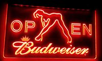 señales de barra libre al por mayor-LS019-r Budweiser Exotic Dancer Stripper Bar Light Signs Decoración Envío gratis Dropshipping Wholesale 8 colores para elegir