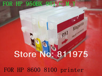 Wholesale Ink Cartridge Empty Compatible - for hp 950 XL951 XL refillable ink cartridge Compatible For hp Officejet Pro 8100 8600 251dw 276dw 8630 8650 8615 8625 printer