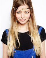 Wholesale Tassel For Hair - 2015 New Arrival Tassel Hairbands Boho Gold Turquoise   Hair Wear  Headband   Headpiece For Women Tomtop Jewelry