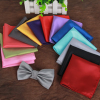 Wholesale Hankerchief Pocket - Free Shipping Fashion Chic Mens Silk Satin Pocket Square Hankerchief Hanky Plain Solid Color 210044