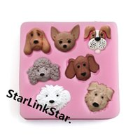 Wholesale Dog Mold Mould - 1Pcs 3d Dog Shape Silicone Mold Fondant Mould Cake Decorating Tools Cheap Soap Mold