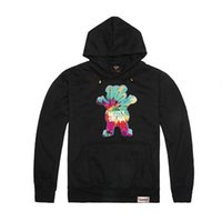 Wholesale Autumn Winter Grizzly Grease hoodies Diamond Supply mens thick Grizzly bear Sweatshirt crew neck hoody pullover ZA093