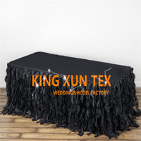 Wholesale Table Skirts Wholesale - Cheap Price Taffeta Table Skirt \ Table Cloth Skirting For Wedding And Event Decoration Free Door Shipping