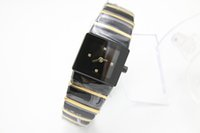 Wholesale Ladies High Tops - Luxury top brand full ceramic high quaity limited womens watch TICHY high quality date ceramic black dial two tone ladies dress watches