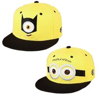Wholesale Despicable Characters - Summer Women And Men Baseball Cap Kids Girl And Boys Cartoon Hip hop Casual Hats Of Despicable Me Children Minion Stingy Brim Ball Hat ZJ-05