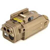 illuminateur a mené l'éclairage achat en gros de-Pointeur laser rouge visible DBAL-PL / LED lumière blanche / Laser IR / Illuminateur LED IR Dark Earth