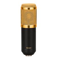 kaliteli kondenser mikrofon toptan satış-Yüksek kaliteli BM-800 Dinamik Kondenser Kablolu Kayıt Mikrofon Ses Stüdyosu ile Şok Dağı Kayıt Kiti KTV Karaoke Masaüstü PC