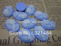 Wholesale Skull Cameo Cabochon - Vintage 18x25mm resin flat back beads skull cameo oval cabochon for pendnat bezel blank jewelry making FSC013