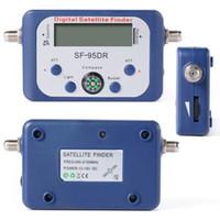 Wholesale Digital Tv Receptor - Digital Displaying Satellite Finder SF-95DR Meter TV Signal Finder SF95DR Sat Decoder Satlink receptor, Free Shipping