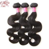 "Wholesale Elite Virgin Hair - Elites Products 3pcs lot 12""-28"" Brazilian Virgin Hair Body Wave Human Hair Weave Wavy Can Be Dye 100% Unprocessed Virgin Hair"